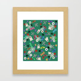 Maybe you're haunted #4 Framed Art Print