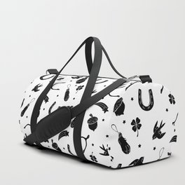 A Little Luck - on white Duffle Bag