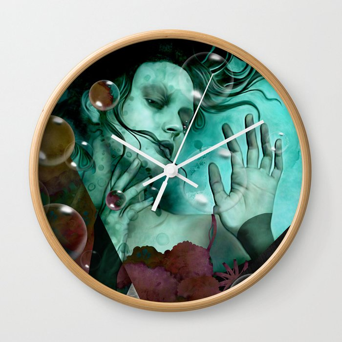 """""""The witch of the water forest"""" Wall Clock"""