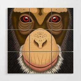 Old Chimpanzee Wood Wall Art