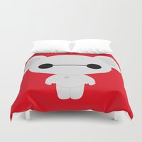 baymax Duvet Covers featuring Baymax Teddy by DJ066