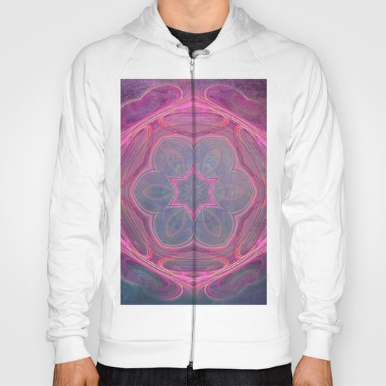 whimsical fractal love in pink Hoody