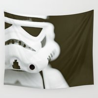 trooper Wall Tapestries featuring trooper portrait by Emma Harckham