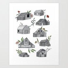 Flowers for Barns  Art Print