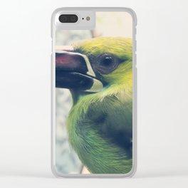 Crimson-Rumped Toucanet Portrait Clear iPhone Case