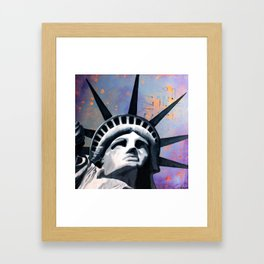 Welcome to New York Statue of Liberty Framed Art Print
