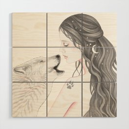 Wolf Song Wood Wall Art