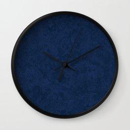 Marble Granite - Deep Royal Blue Wall Clock