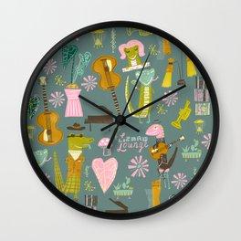 Lizard lounge Wall Clock