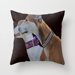 Greyhound Portrait Throw Pillow