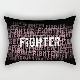 Fighter (On Black) Rectangular Pillow