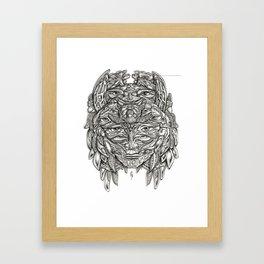 Turtle Princess Framed Art Print