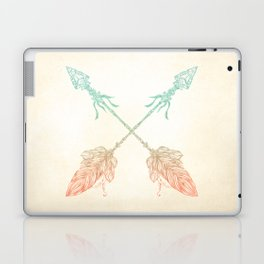 Tribal Arrows Turquoise Coral Gradient Laptop & iPad Skin