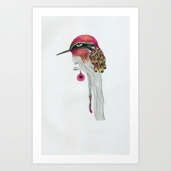 Pink Pajarita Art Print