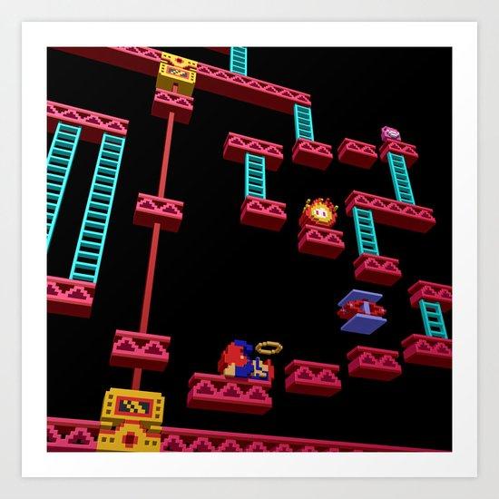 Inside Donkey Kong stage 3 Art Print