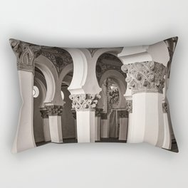 The Historic Arches in the Synagogue of Santa María la Blanca 5, Toledo Spain Rectangular Pillow