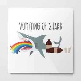 Vomiting of shark Metal Print