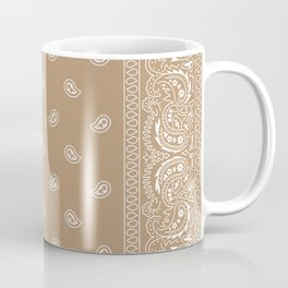 Bandana - Southwestern - Paisley - Latte  Coffee Mug
