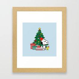 Snoopy Winter Christmas xmas Framed Art Print
