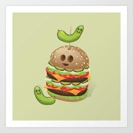 Evil Burger Art Print
