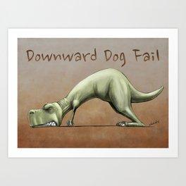 Downward Dog Fail Art Print