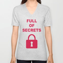 Full of Secrets Lock Unisex V-Neck