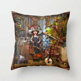 Behind the Barn Throw Pillow