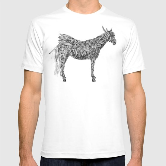 Feather Horse  T-shirt