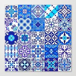 Moroccan Tile islamic pattern Canvas Print