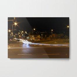 street view at night Metal Print