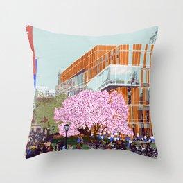 Spring at Barnard College   Barnard Seasons Series Throw Pillow