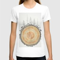tree rings T-shirts featuring Tree Rings by dreamshade