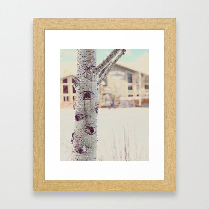 Aspen Tree Jackson Hole Mangy Moose Framed Art Print