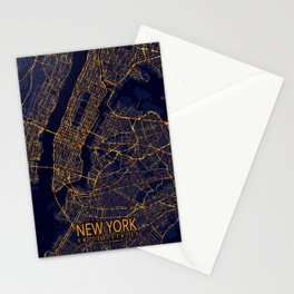 New York City At Night Stationery Cards