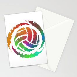 Colorful Volleyball Gift Print Volleyball Team Print Stationery Cards