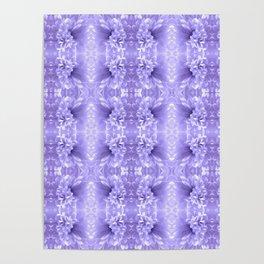 Pastel Purple White Flower Pattern Poster