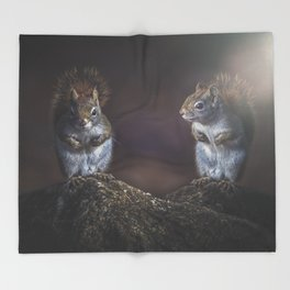 Forest Twins Throw Blanket