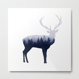 Forest Stag Metal Print