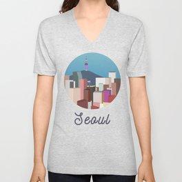 Seoul City Art Unisex V-Neck