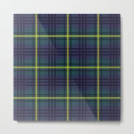 Modern Johnstone Scottish Tartan Metal Print