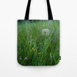 Field of flowers and Dandelions (2) Tote Bag