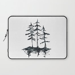 THE THREE SISTERS Black and White Laptop Sleeve