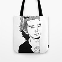 matty healy Tote Bags featuring Matty Healy by ☿ cactei ☿