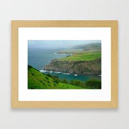 Coastal landscape Framed Art Print