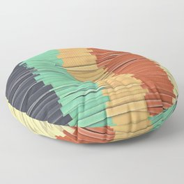 Shreds of Color Floor Pillow