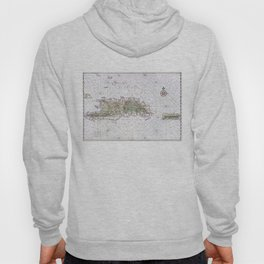 Vintage Map of Hispaniola (1639) Hoody