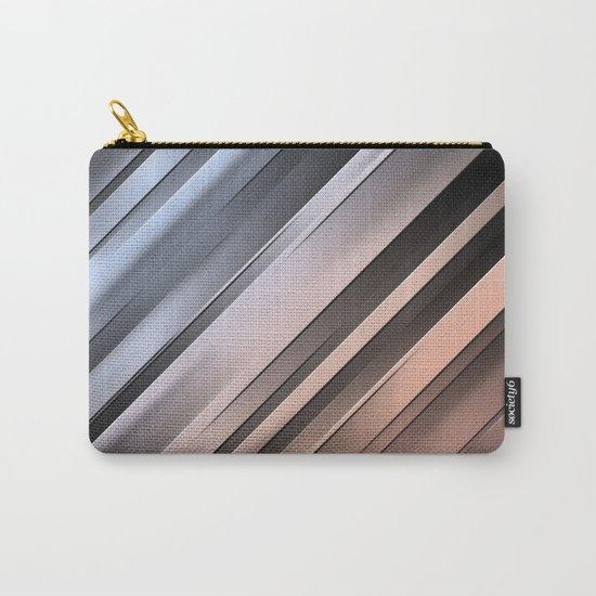 Abstract Diagonal Lines Carry-All Pouch