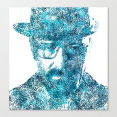 Walter White made of SkyBlue. Breaking Bad returns TONIGHT!!! Canvas Print
