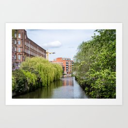 St James and the River Wensum, Norwich Art Print