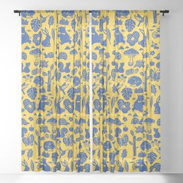 Pattern - forest party Sheer Curtain